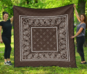 Coffee Brown Bandana Quilt