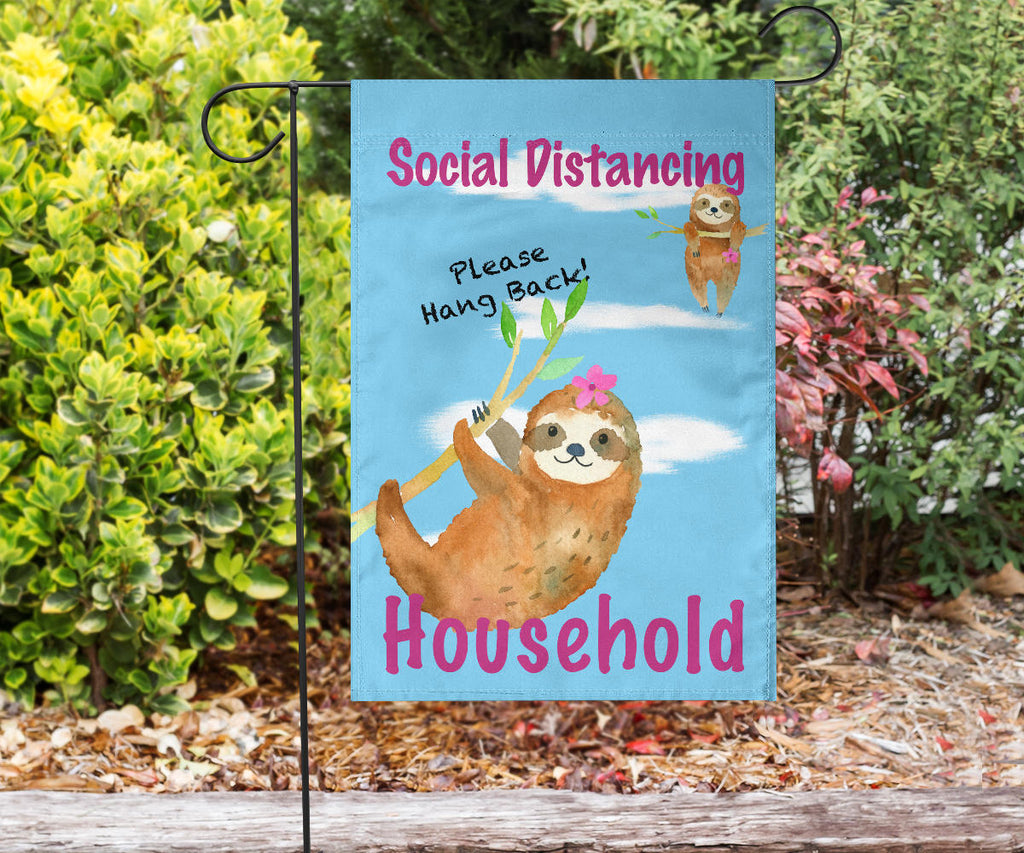 social distancing sloth sign for homes