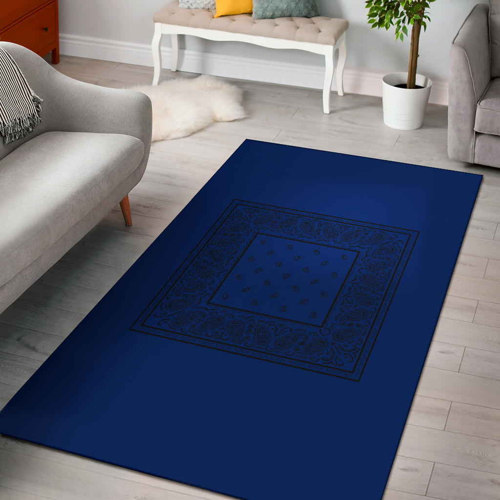 blue with black bandana carpet