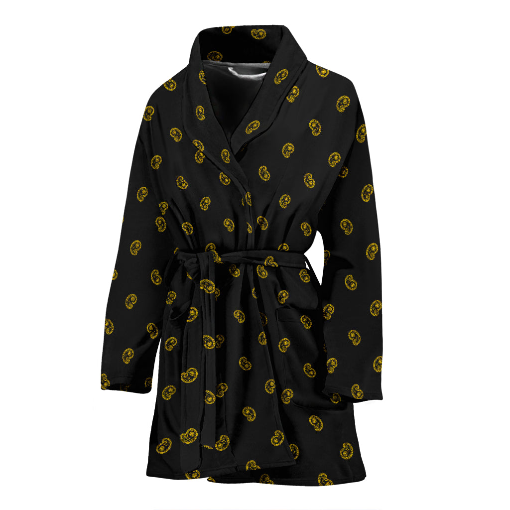 black and gold bathrobe for women