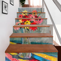 The Crystal Vase Stair Stickers Fine Art Painting