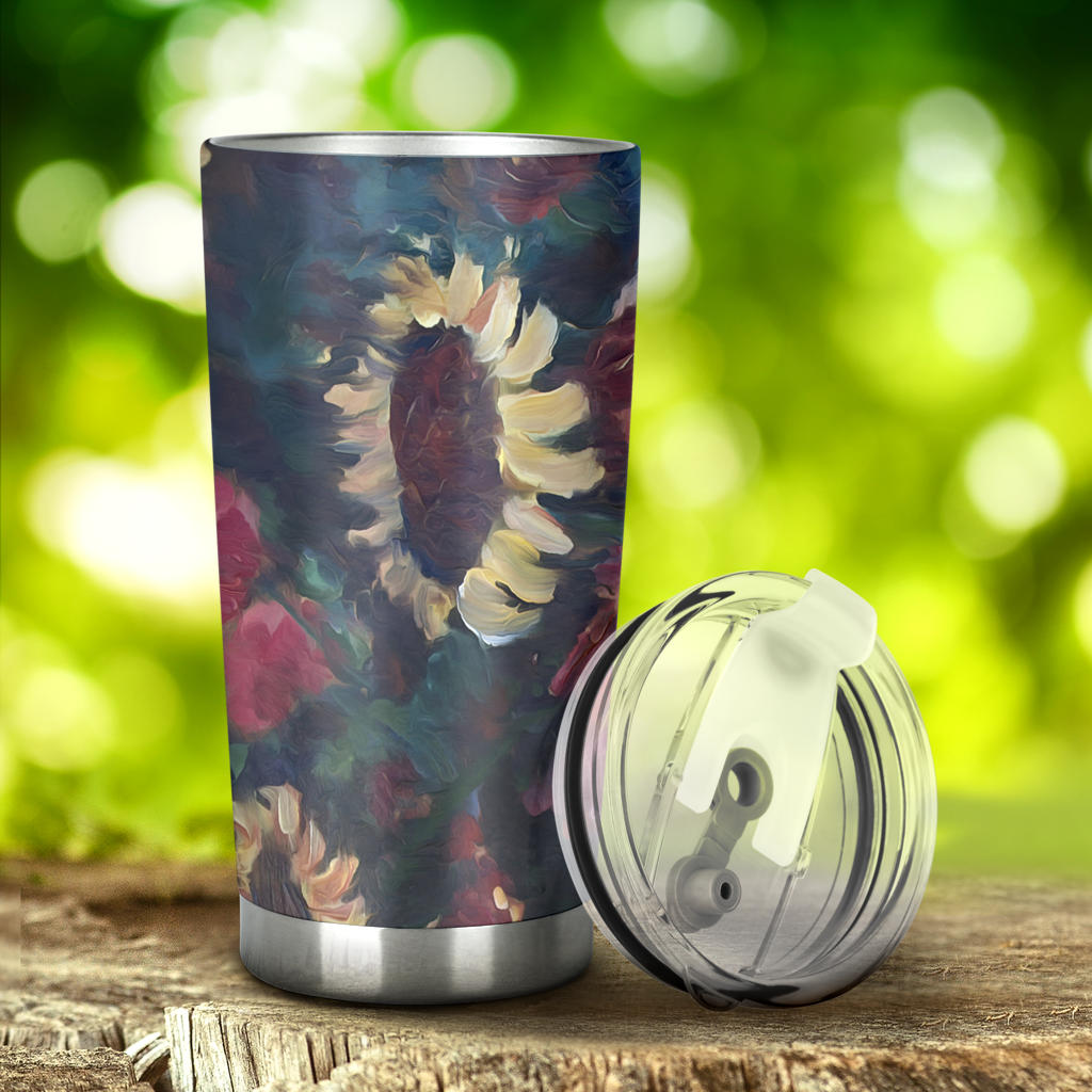 sunflower artists drink tumbler