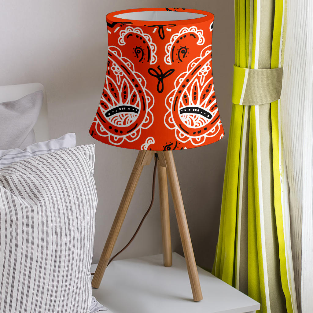 Orange Paisley Drum Lampshade