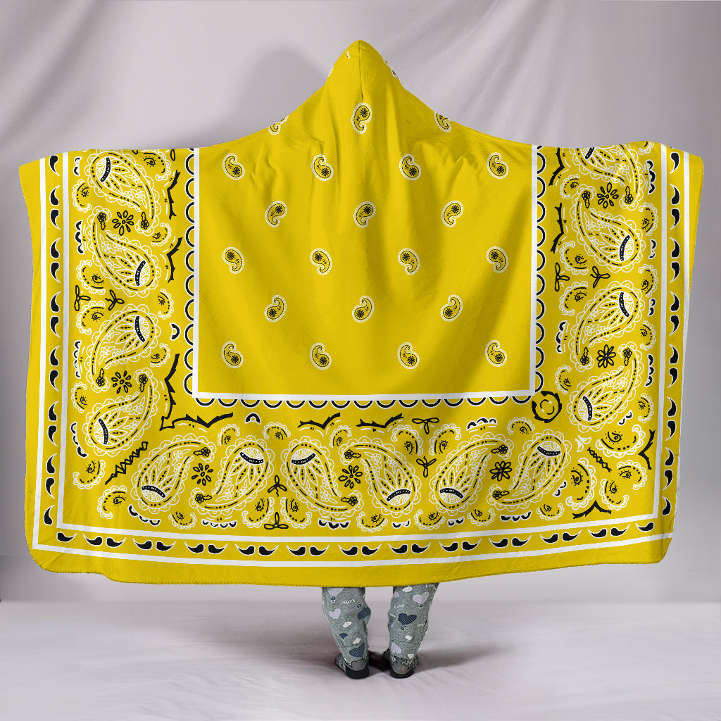 Yellow Bandana Hooded Blanket