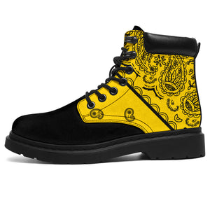 Yellow Bandana Blackout All Season Boots