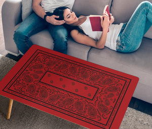 Red and Black Bandana Rectangular Coffee Tables