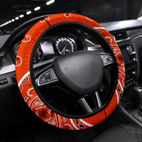 orange bandana steering wheel cover