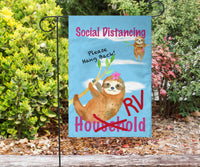 social distance flag sign for RVing