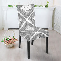 White Bandana Dining Chair Cover