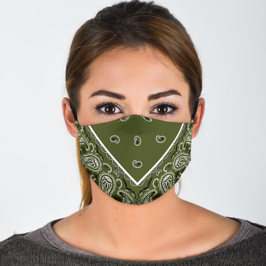 green bandana covid face mask