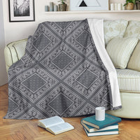 Gray Bandana Diamond Throw Blanket