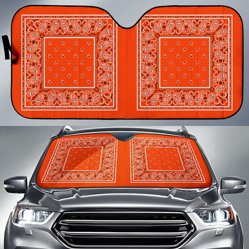 orange bandana lowrider car shades