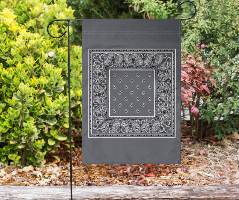 Classic Gray Bandana Home and Garden Flags