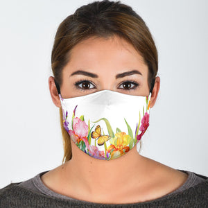 Garden Irises Face Mask
