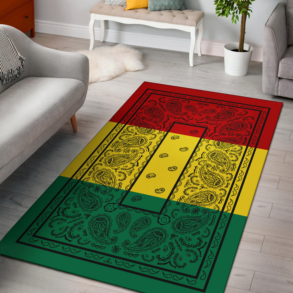 Rasta Bandana Area Rugs - Fitted