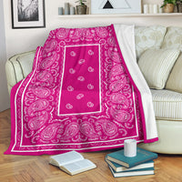 Pink Bandana Throw Blanket