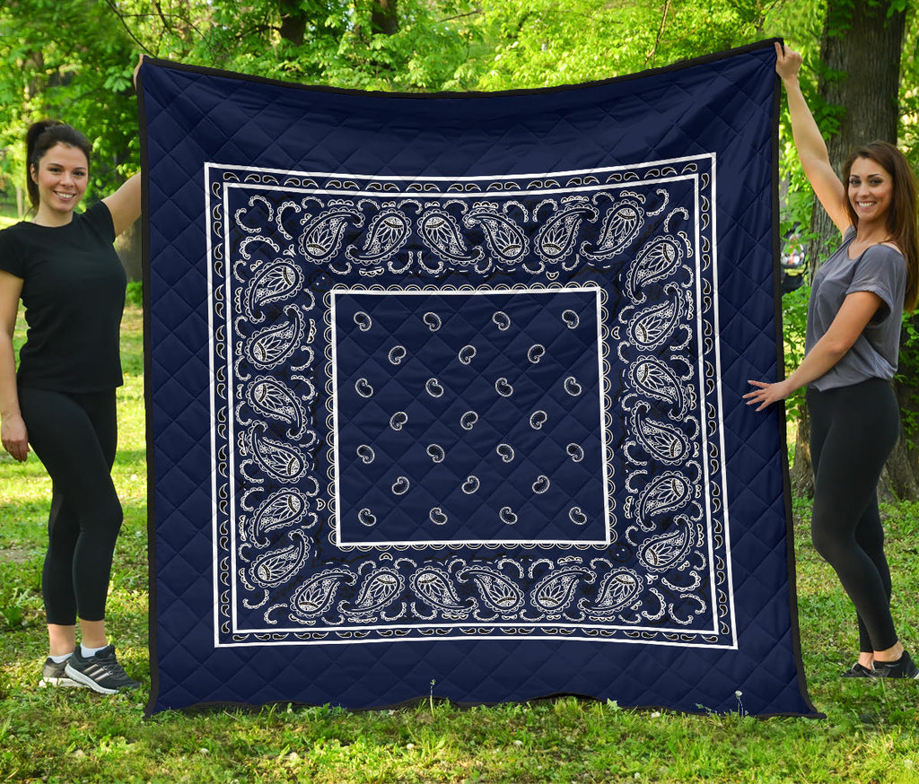 Navy Blue Bandana Bedding