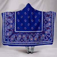 Blue Bandana Hooded Blankets