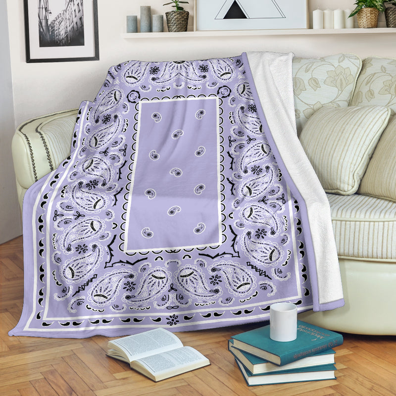 Lavender Bandana Throw Blanket