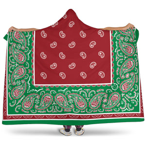 Christmas Holiday Bandana Hooded Blanket