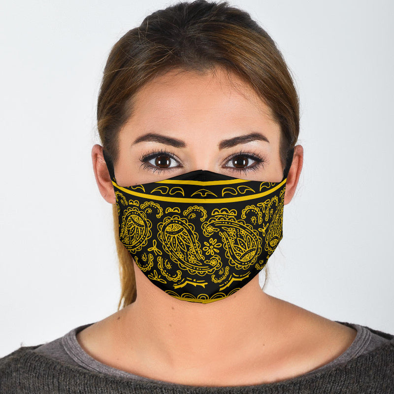 black and gold bandana masks