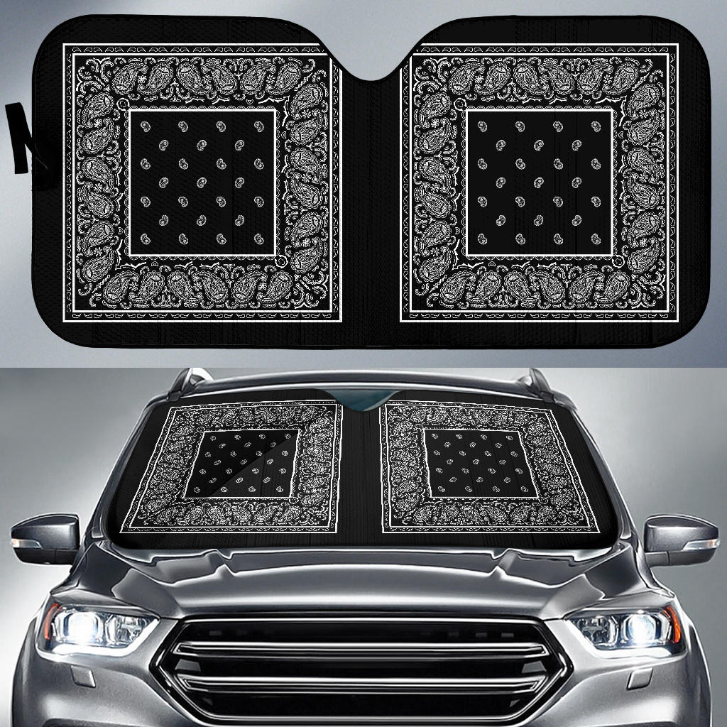 black bandana car shade