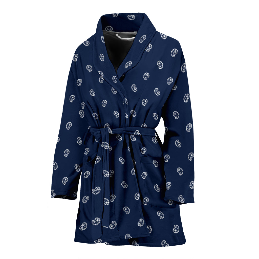 blue women's robe