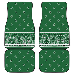 Quad Classic Green Bandana Car Mats - Fancy