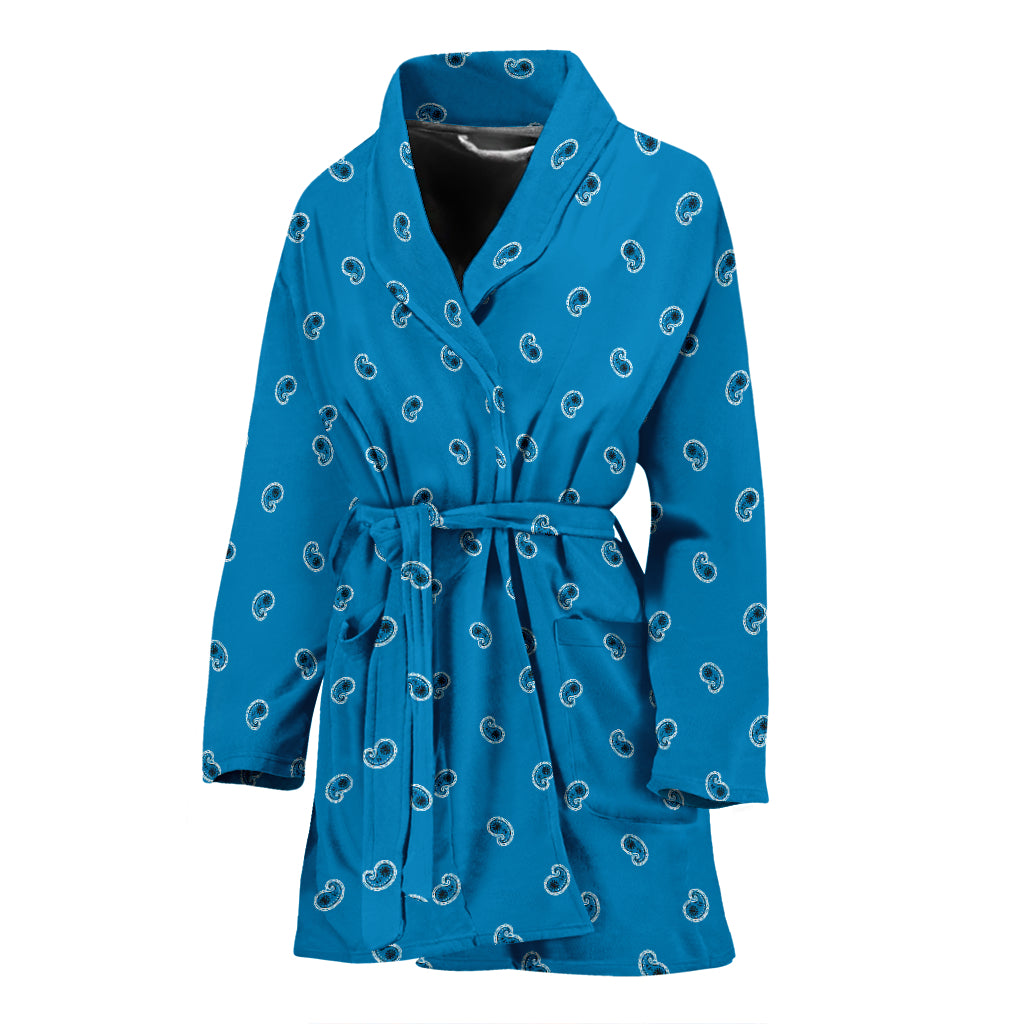 beautiful blue women's bathrobe