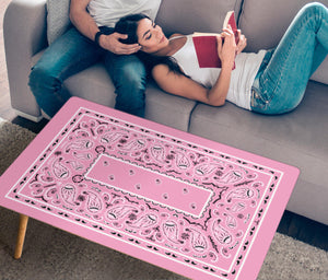 Light Pink Bandana Rectangular Coffee Tables