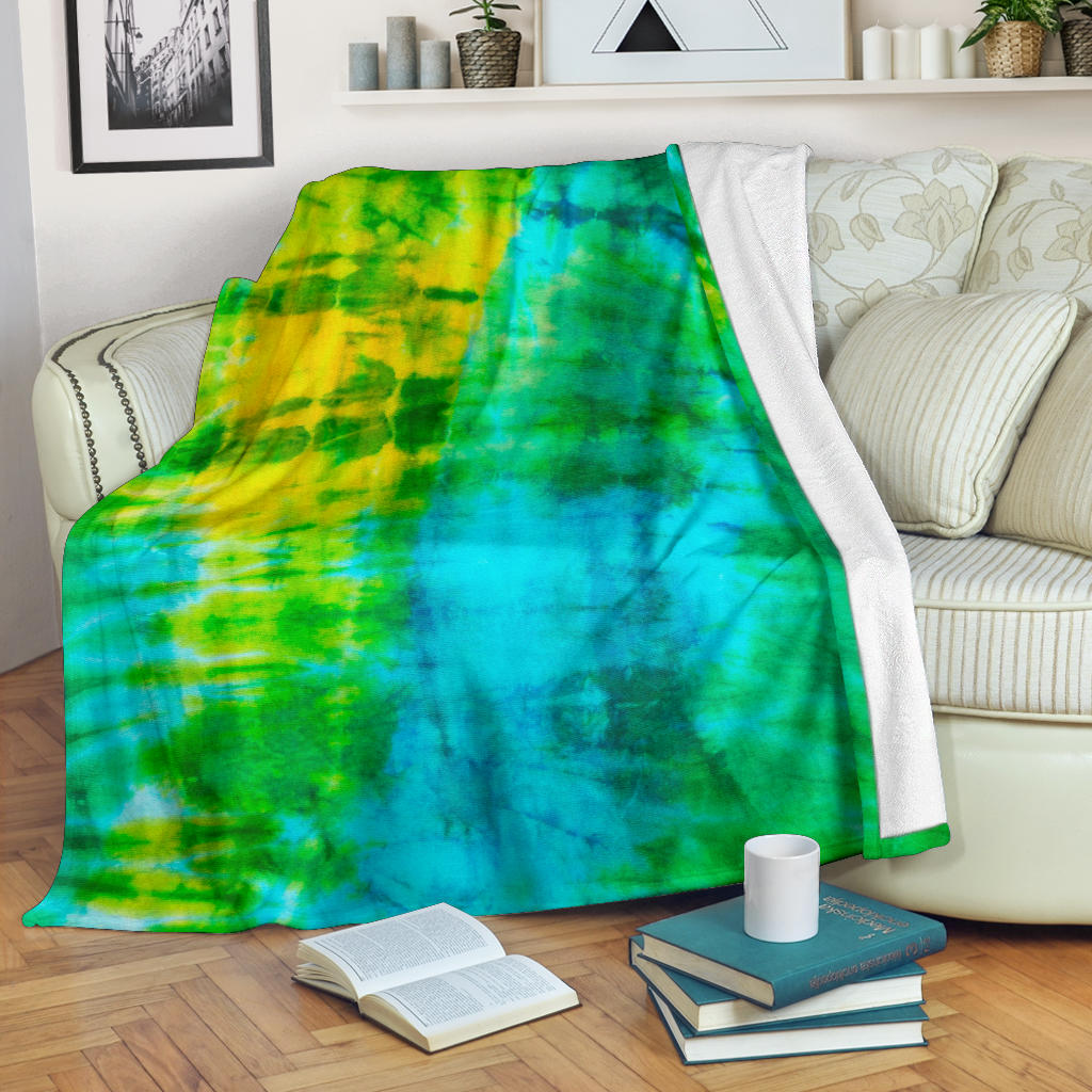 Aqua Daze Tie Dye Fleece Throw