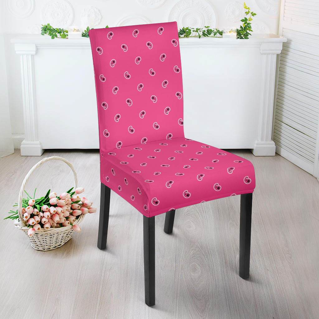 Pink Bandana Dining Chair Cover