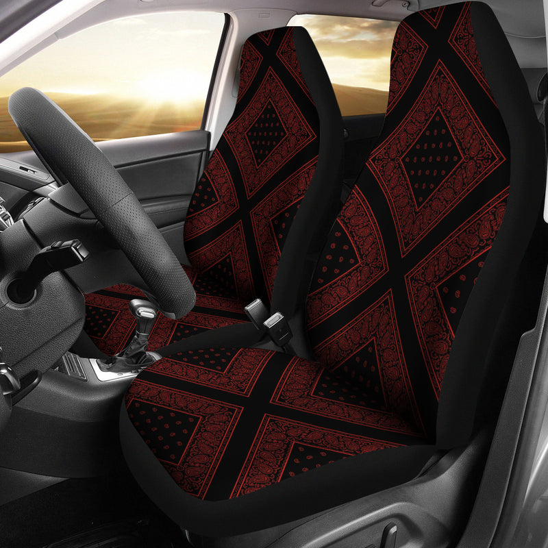 red and black car seat cover
