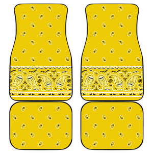 Quad Sunshine Yellow Bandana Car Mats