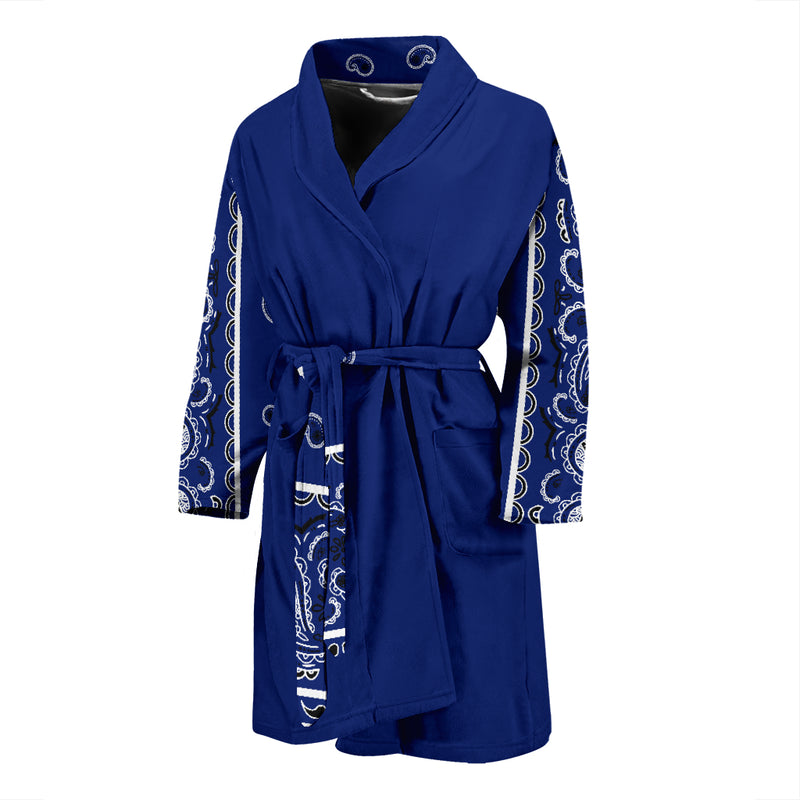 royal blue bandana robe