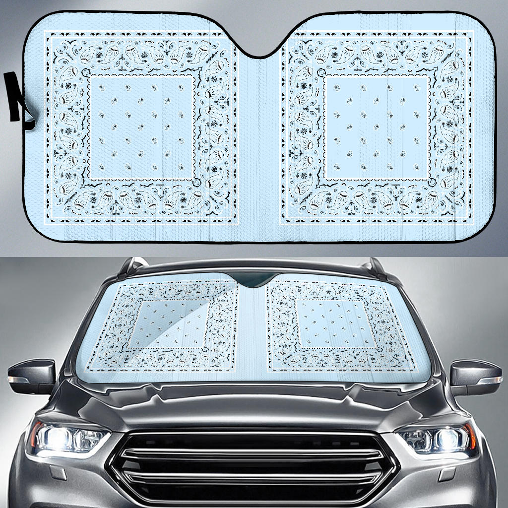 light blue sun shade for cars