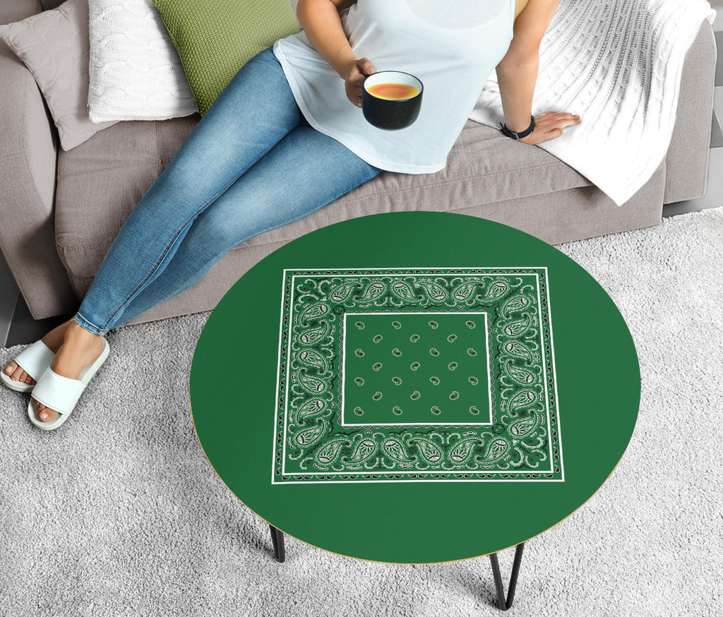 Green Bandana Round Coffee Tables
