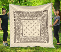 Cream and Brown Bandana Quilt