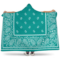 Ultimate Aqua Green Hooded Blanket