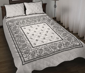 White Bandana Bed Quilts with Shams