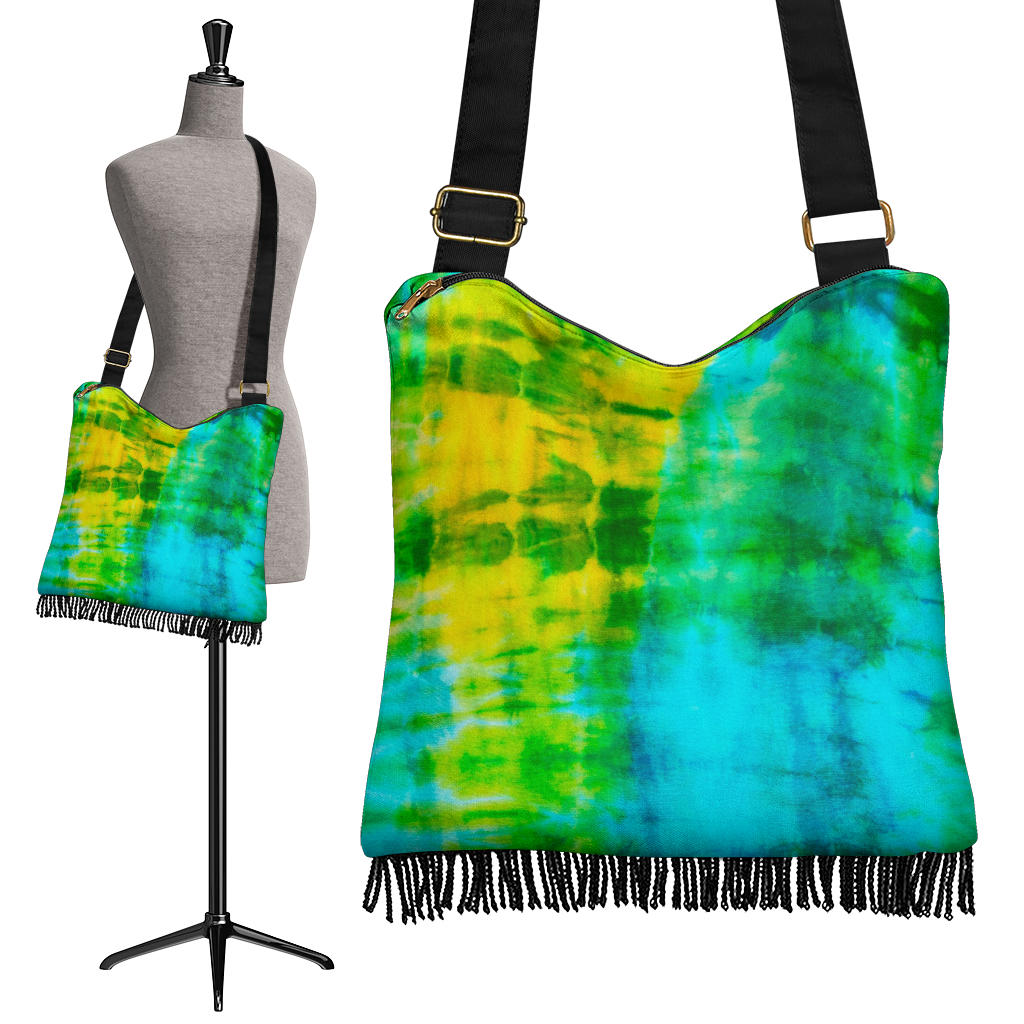 Tropical Tie Dye Bandana Boho Bag