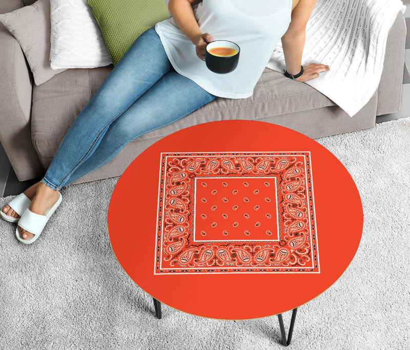 Perfect Orange Bandana Coffee Table