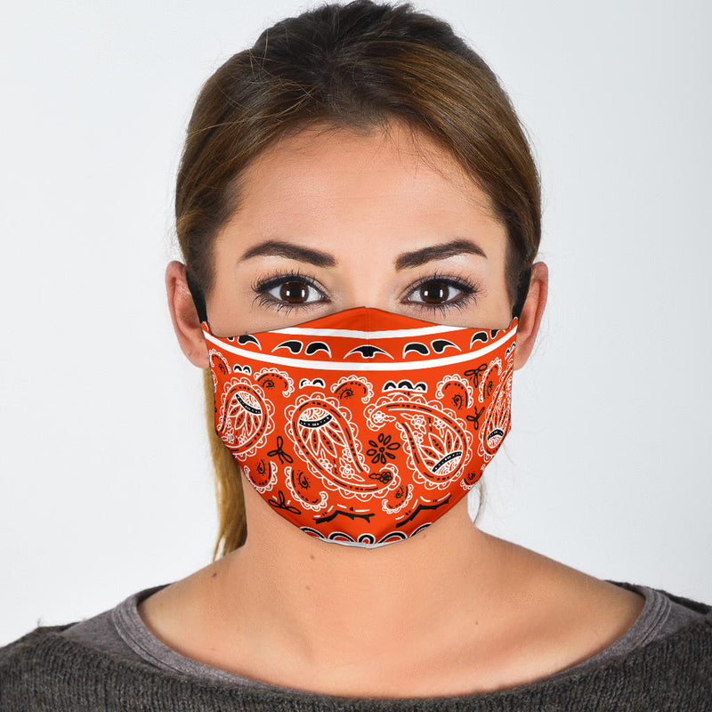 orange bandana face masks