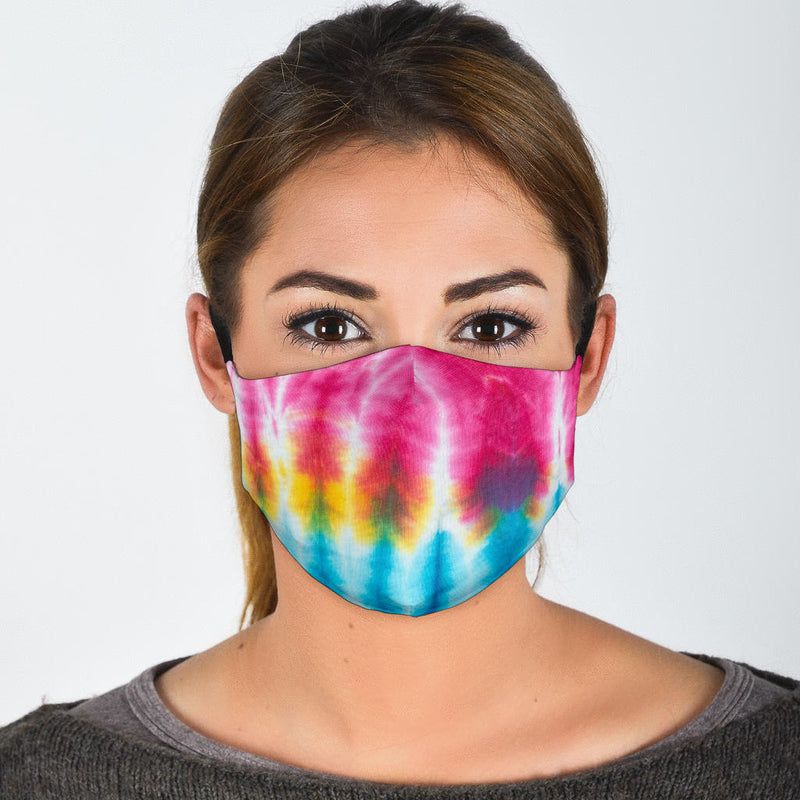 Straight Up Tie Dye Face Mask