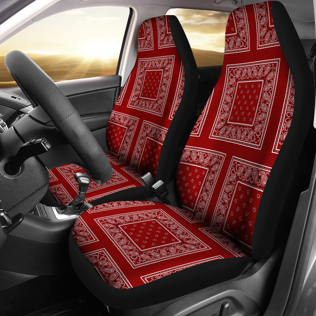 maroon seat covers