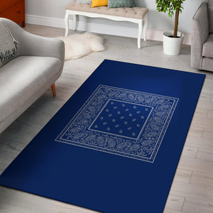 blue bandana throw rugs