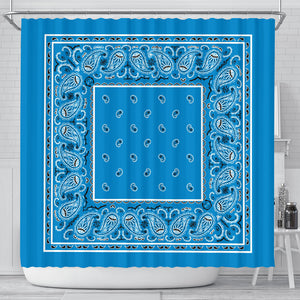 Sky blue bandana decor