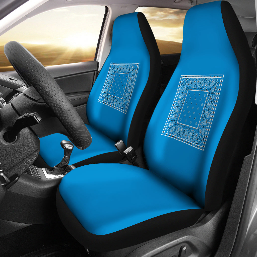 blue bandana seat covers