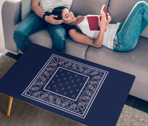 Blue Bandana Rectangular Coffee Table