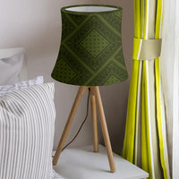 Army Green and Black Bandana Drum Lampshade